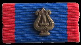 Musikl.abz. Bandschnalle in Bronze