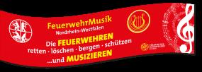 Spannband 400 x 100 cm Feuerwehrmusik