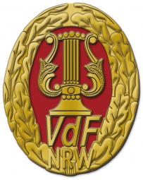 Musikleistungsabzeichen Sonderstufe Gold mit Rot