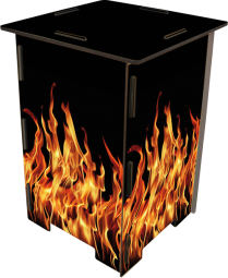 Hocker Flammen Motiv